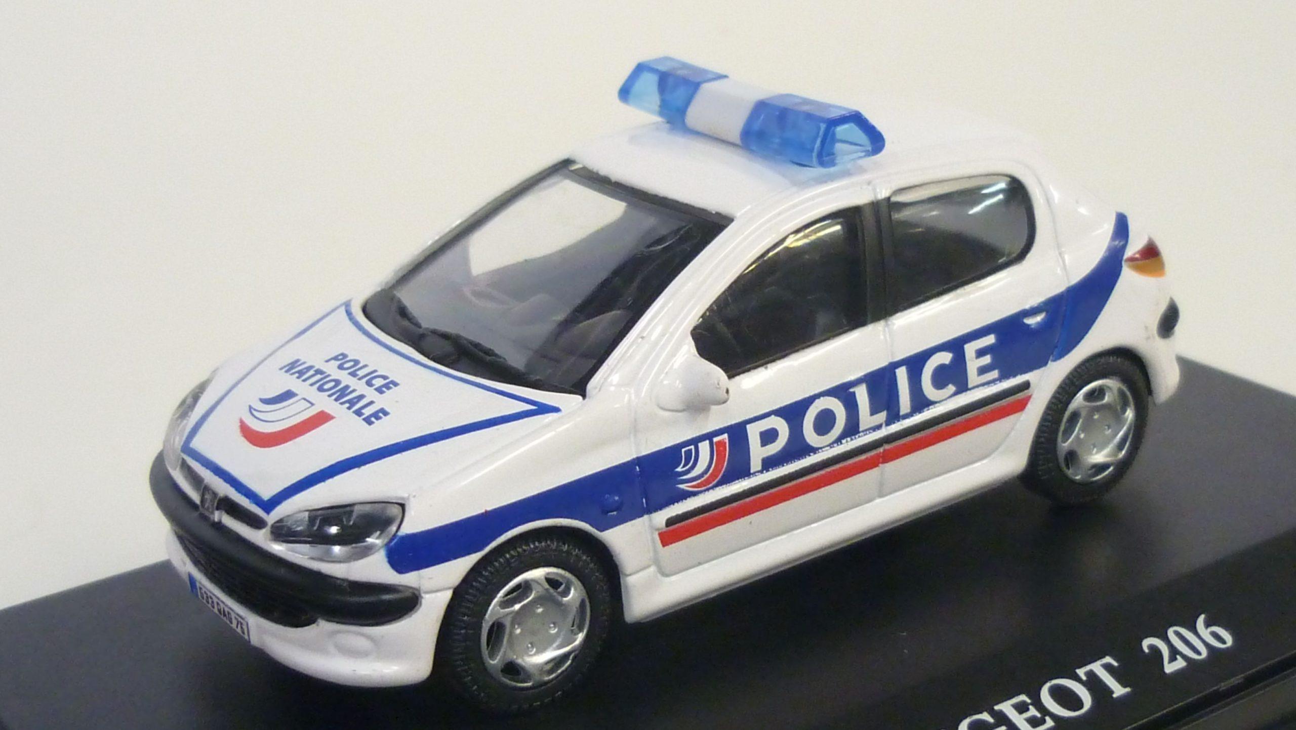 politie Bruxelles-ouest SOL35N Voiture 1//43 NOREV PEUGEOT 206 police