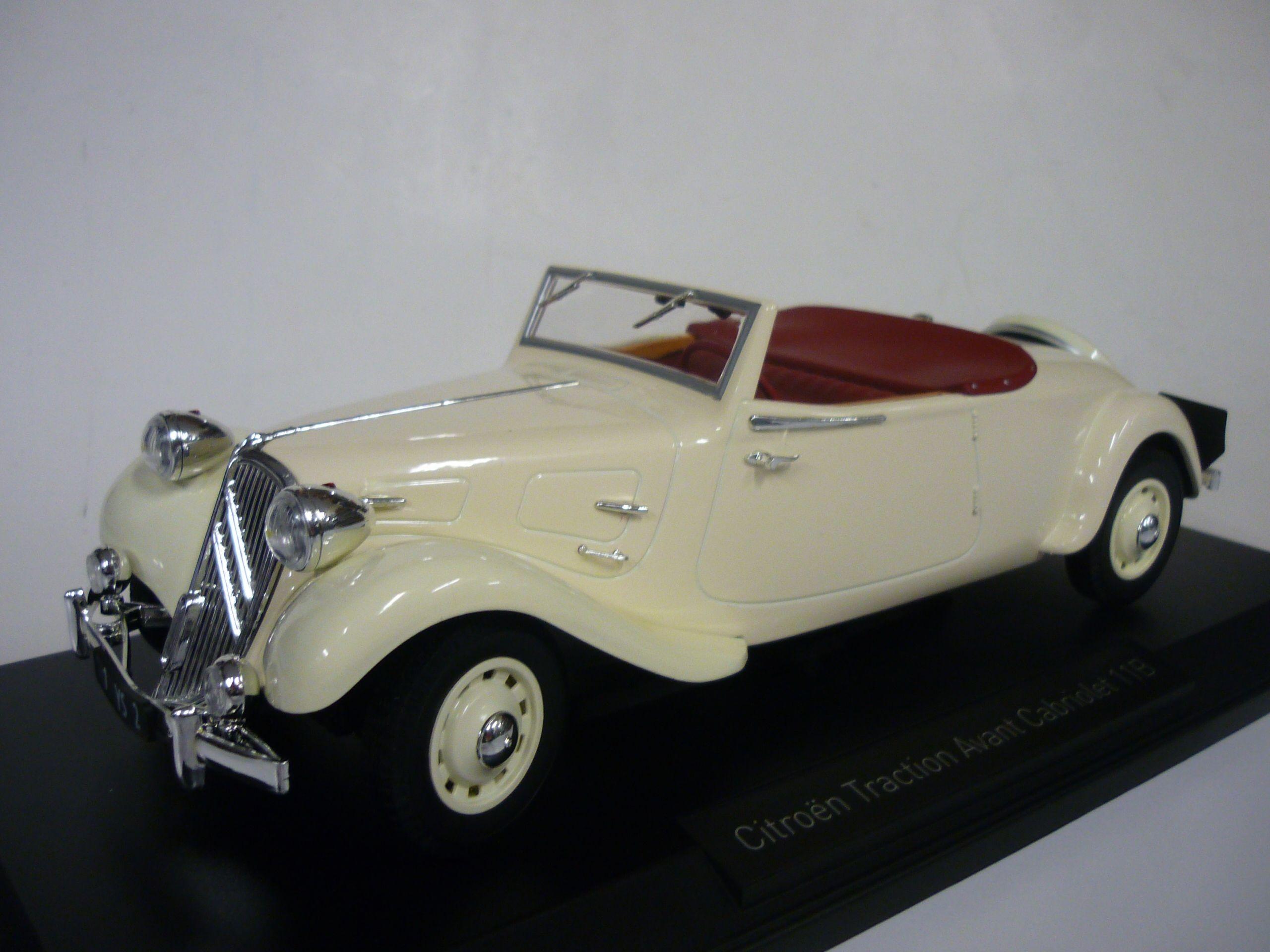 voiture miniature 1//18e NOREV 181440 CITROEN TRACTION 11B CABRIOLET